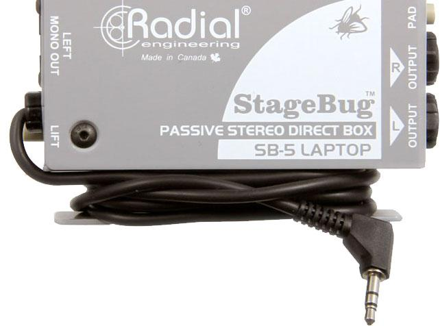 Radial Engineering StageBug SB-5 Sidewinder Laptop DI