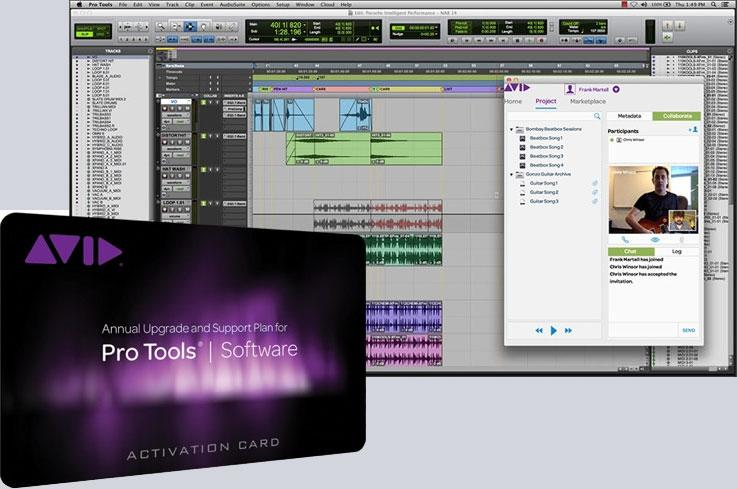 Avid Pro Tools 12 w/ Annual Upgrade and Support Plan - Institutional (Card and iLock)