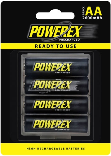 MAHA Energy Powerex AA MHRAAP4 2600 mAh 4-Pack Rechargeable Batteries
