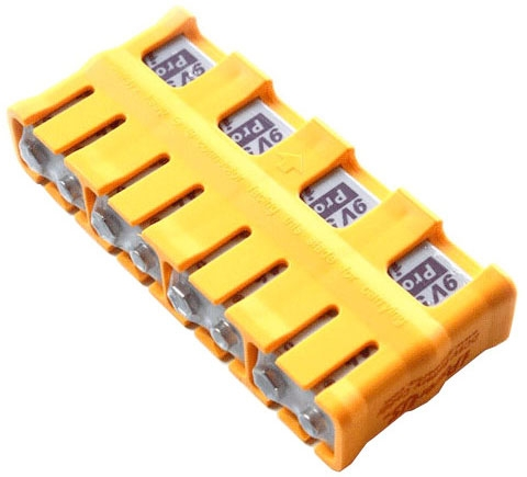iPowerUS 9 volt 700mAh Li-Polymer Rechargeable Battery - 4 Pack