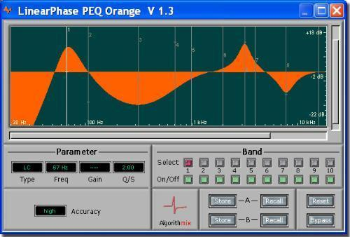 Algorithmix Linear Phase PEQ Orange